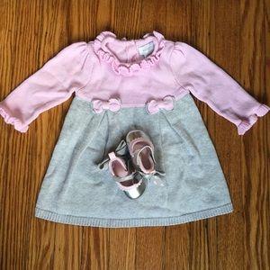 Precious infant shoes and dress set!